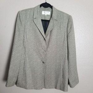 Larry Levine Suits Gray Tweed Career Blazer 10
